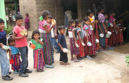 Some of the children fed in Guatemala